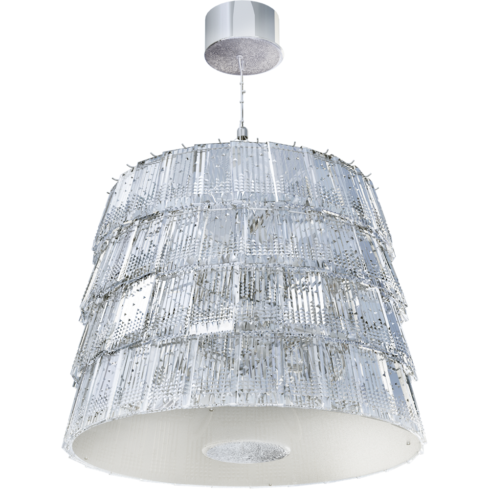 Tuile de Cristal Chandelier Medium size Piccadilly