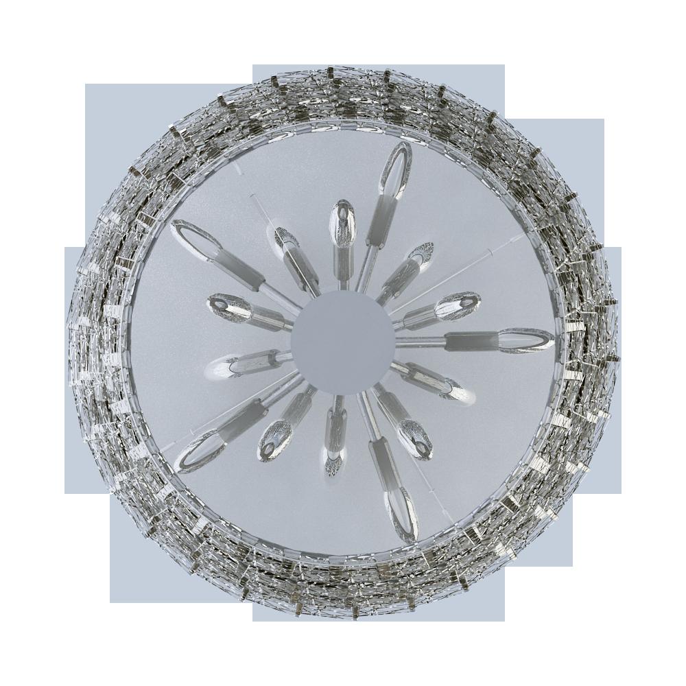 Cad Und Bim Objekte Tuile De Cristal Chandelier Large