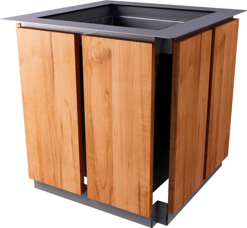 objets bim et cao jardiniere en bois moshi aubrilam. Black Bedroom Furniture Sets. Home Design Ideas
