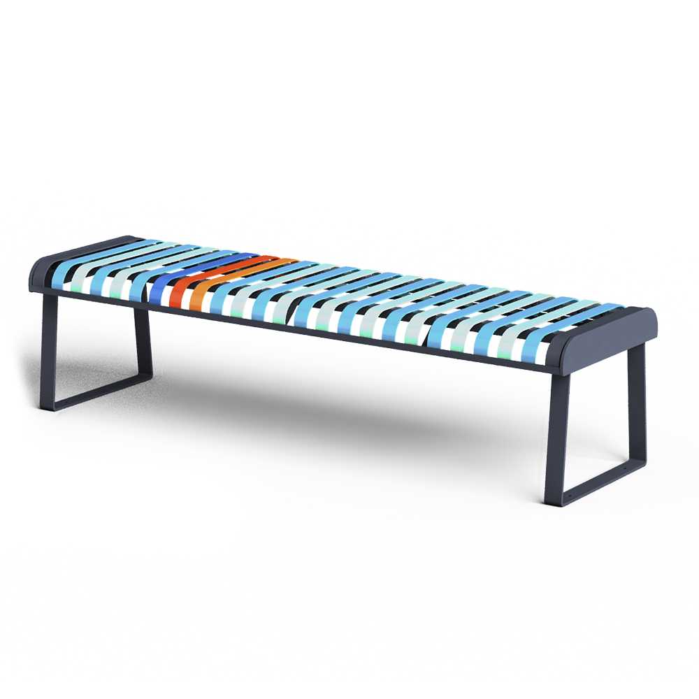 PASTEL Backless bench