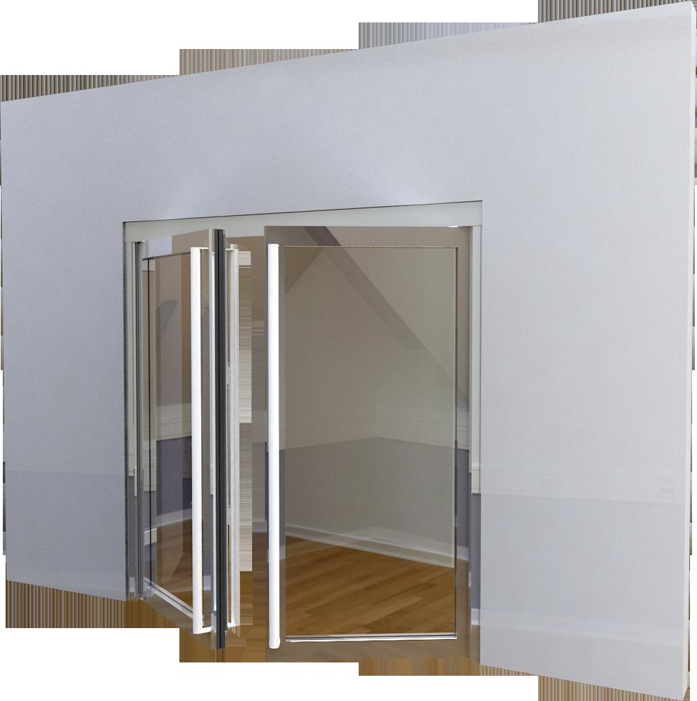 objets bim et cao porte vitree ei60 neo 2 vantaux simple action ou va et vient boullet. Black Bedroom Furniture Sets. Home Design Ideas