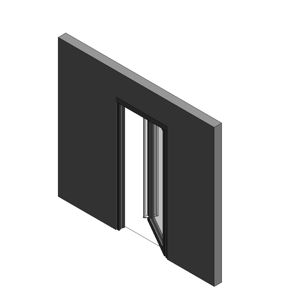Objets bim et cao porte vitree ei60 neo 1 vantail simple for Porte 1 vantail