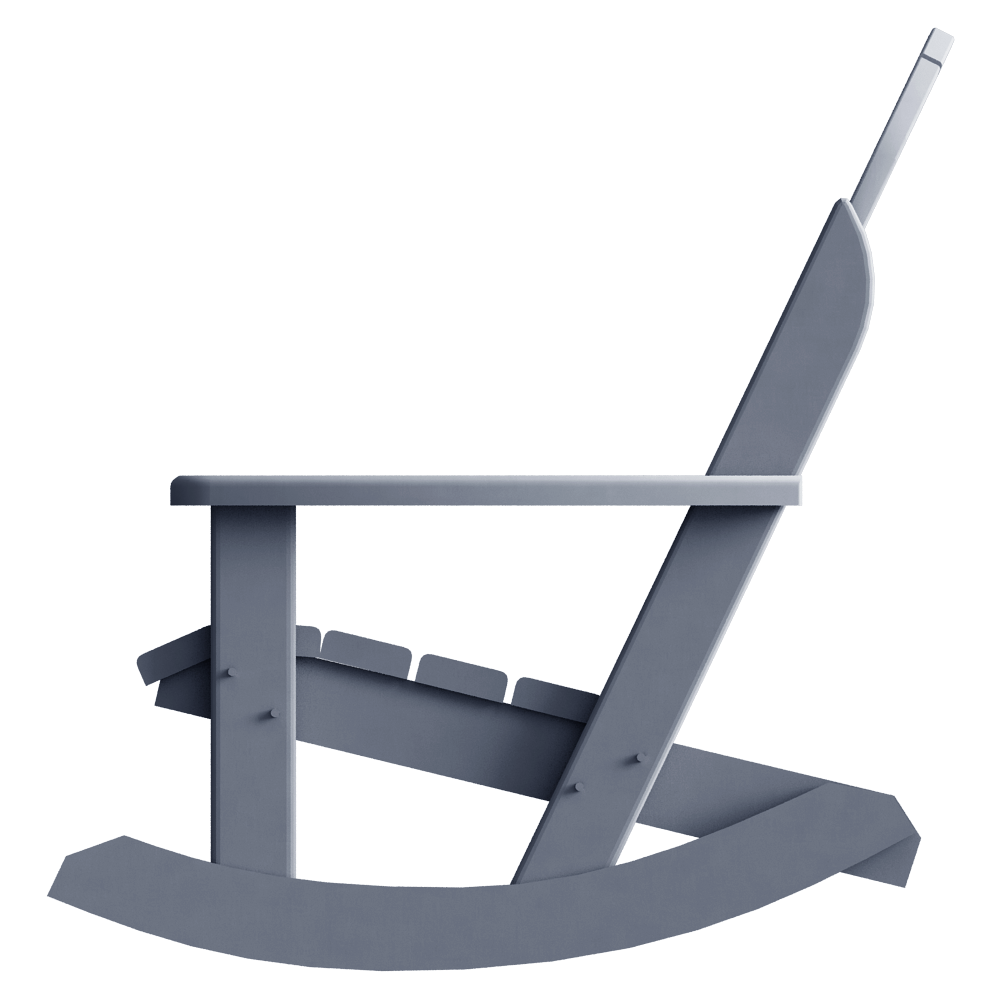 Cad and bim object fauteuil lousiane rocking chair plaseco for Fauteuil rocking chair