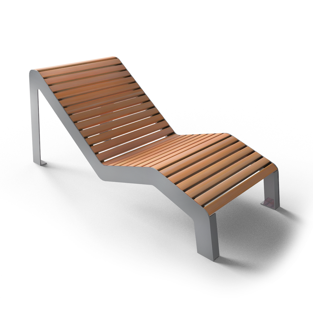Cad and bim object chaise longue serena square for Chaise longue 2 personnes