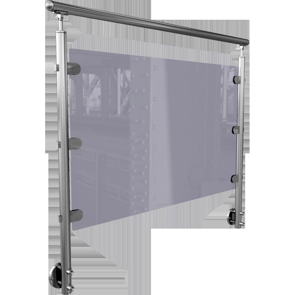 cad and bim object orinox verre en lateral sabot 2. Black Bedroom Furniture Sets. Home Design Ideas