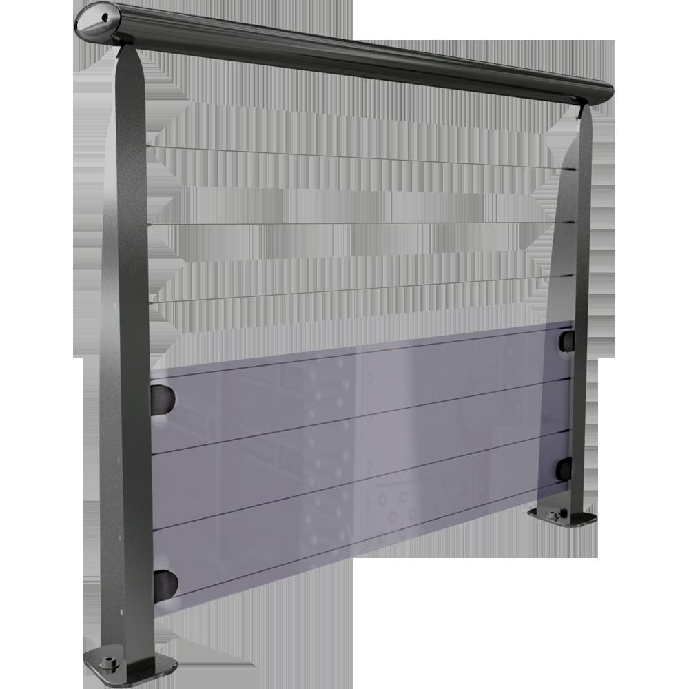 bim objekt teo 7 cables et verre a plat sabot integre. Black Bedroom Furniture Sets. Home Design Ideas