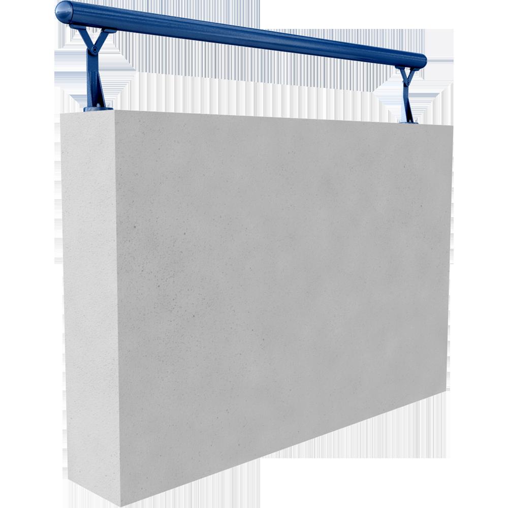cad und bim objekte main courante 45mm sur muret riva. Black Bedroom Furniture Sets. Home Design Ideas