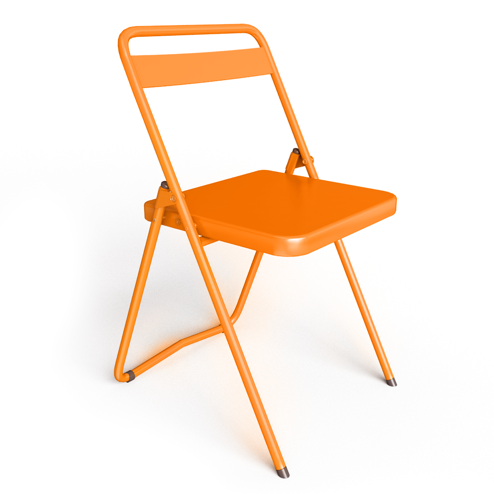 cad and bim object chaise ds no 7 acier orange ral2004 souvignetdesign - Chaise Orange