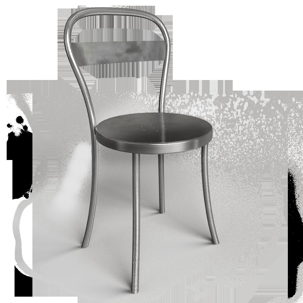 objets bim et cao chaise ds no 1 acier brosse