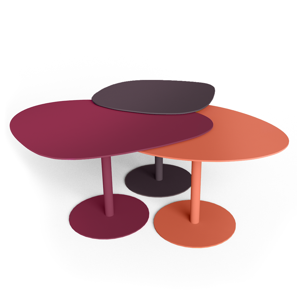 3 Stone Low Table  3D View