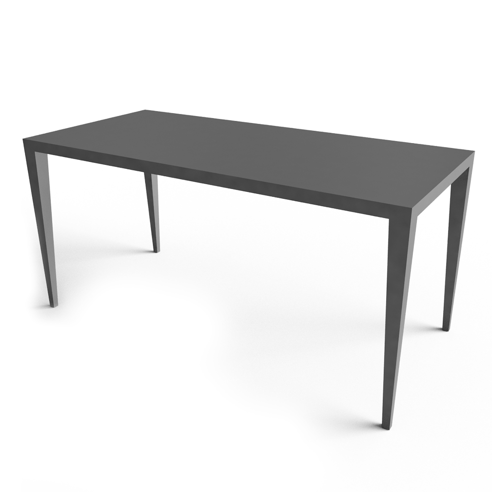 cad and bim object - zonda standing table - matieregrise