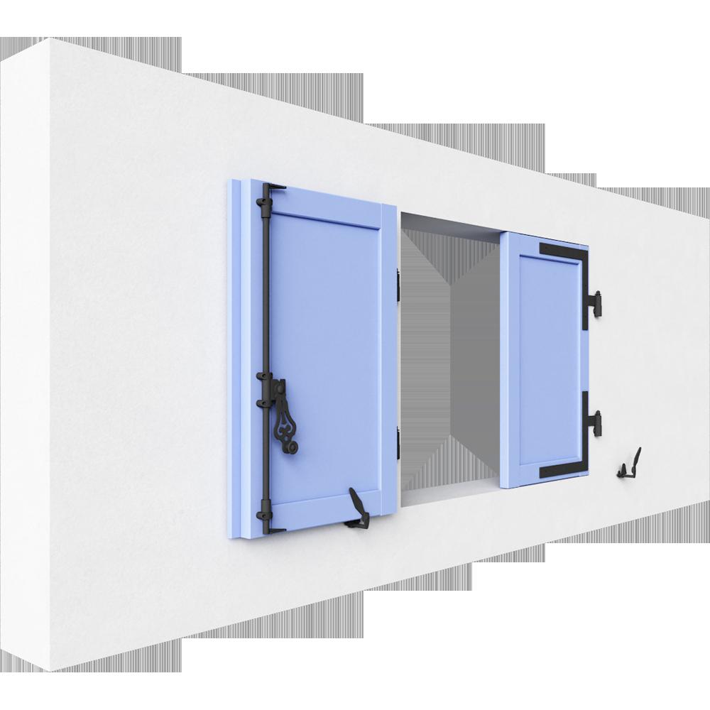 objets bim et cao cadre persienne bois remplissage panneau lisse 2 vantaux thiebautech. Black Bedroom Furniture Sets. Home Design Ideas