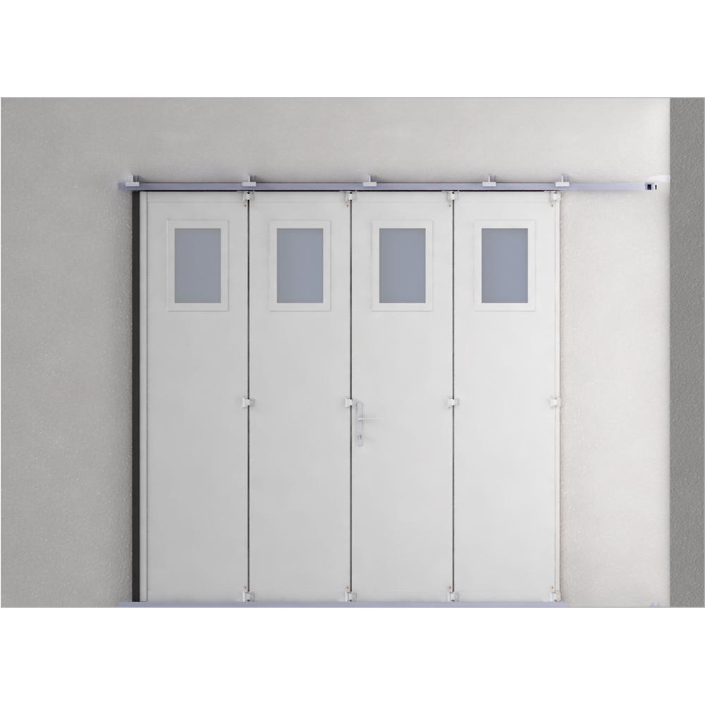 Objets bim et cao porte de garage 4 vantaux gypass - Porte de garage pliante 4 vantaux ...
