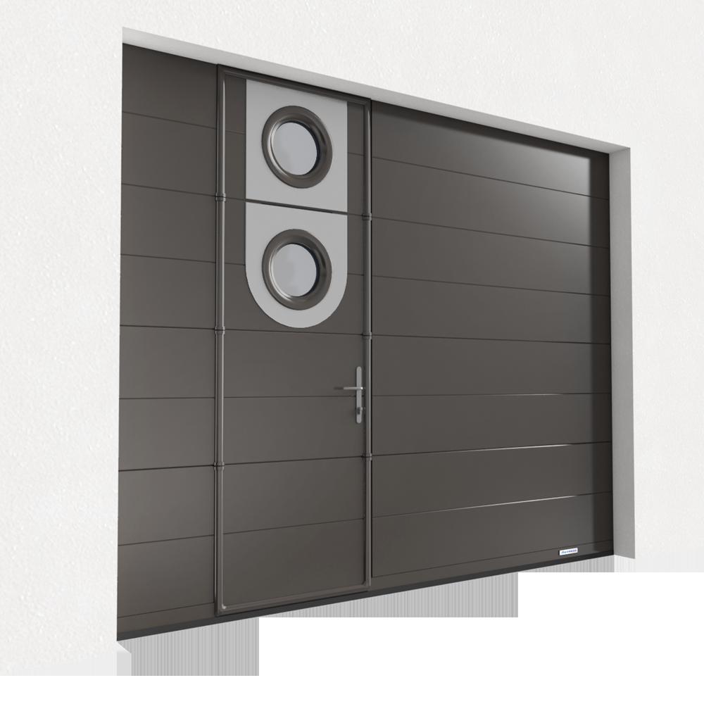 Objets BIM Et CAO Gratuitstypes Objets Bloc Portes De Garage - Porte de garage sectionnelle avec porte douche pvc
