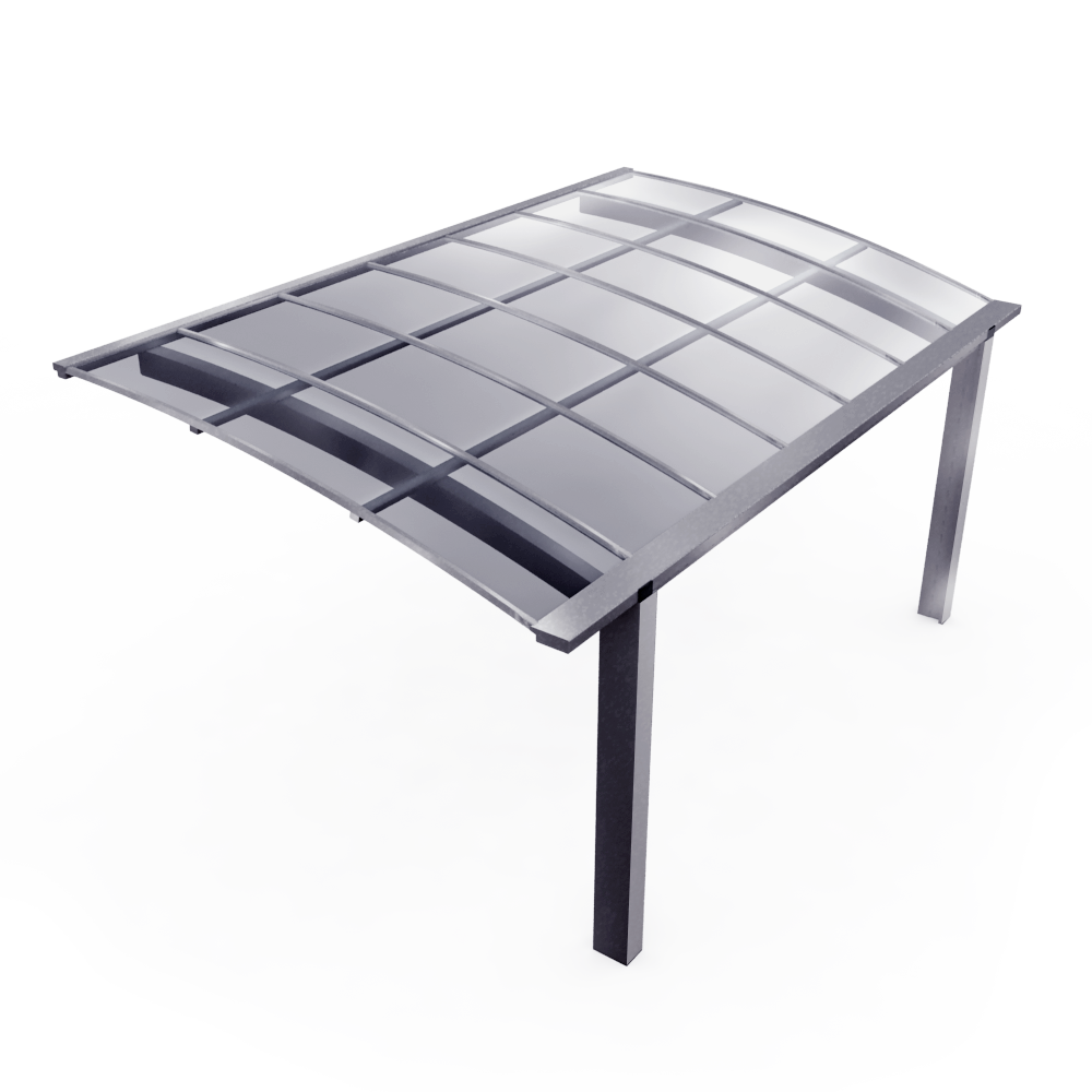 Obiekt bim carport oxygen novoferm for Toit en polycarbonate transparent