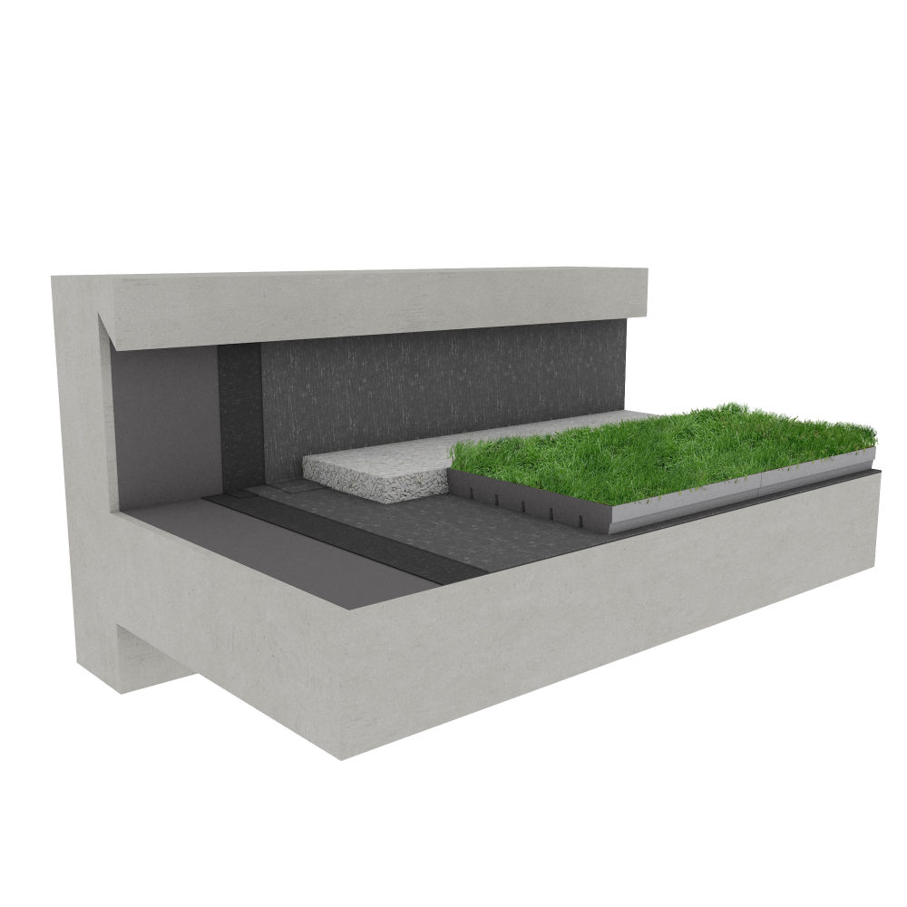 Objets bim et cao toiture terrasse v g talis e canopia jardibac multi usage - Toiture terrasse vegetalisee ...