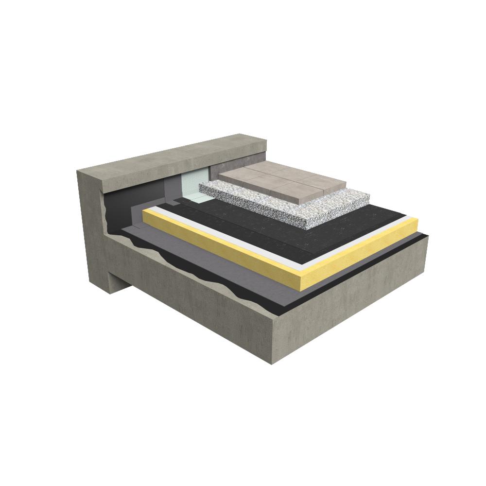 objets bim et cao toiture accessible chape de protection isolation traditionnelle b ton en. Black Bedroom Furniture Sets. Home Design Ideas