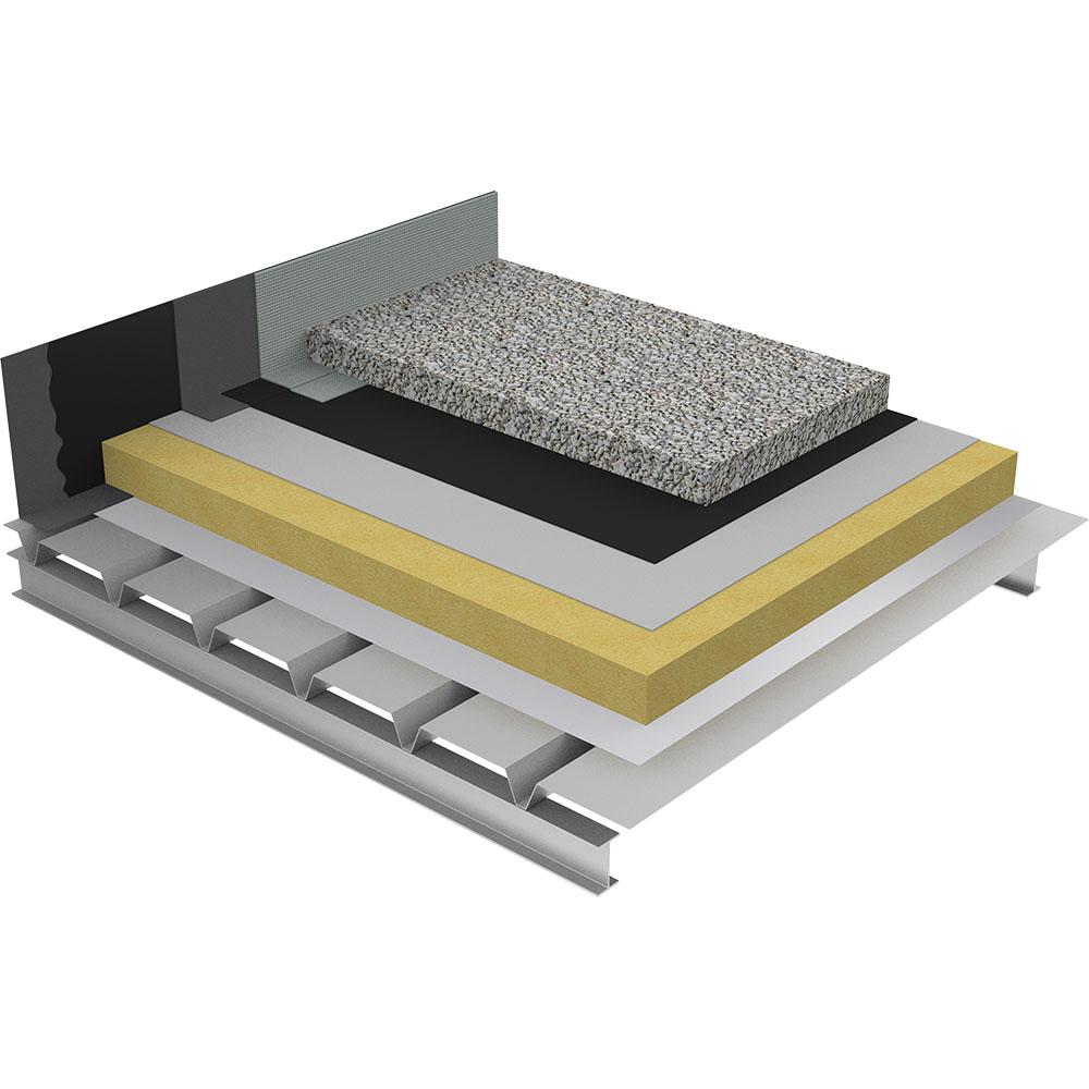 objets bim et cao toiture terrasse inaccessible gravillon isolation monocouche fh sur acier. Black Bedroom Furniture Sets. Home Design Ideas