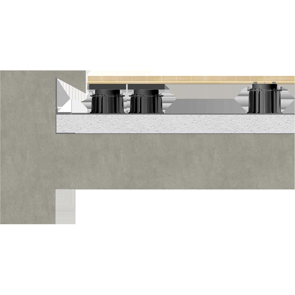objets bim et cao etanch it toiture terrasse accessible dalle sur plots sur ma onnerie siplast. Black Bedroom Furniture Sets. Home Design Ideas