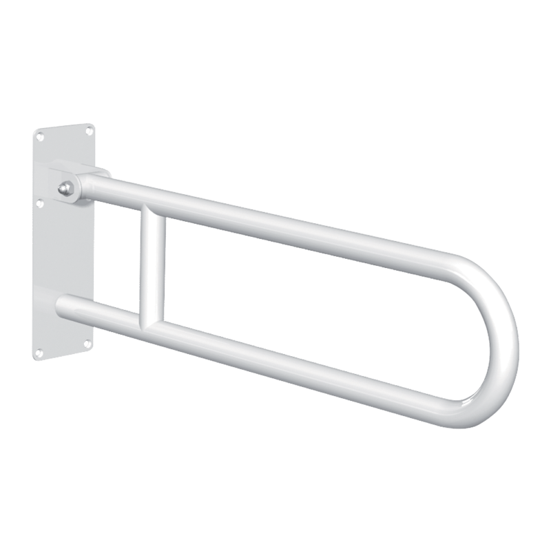 511516W Basic drop down grab bar White stainless steel