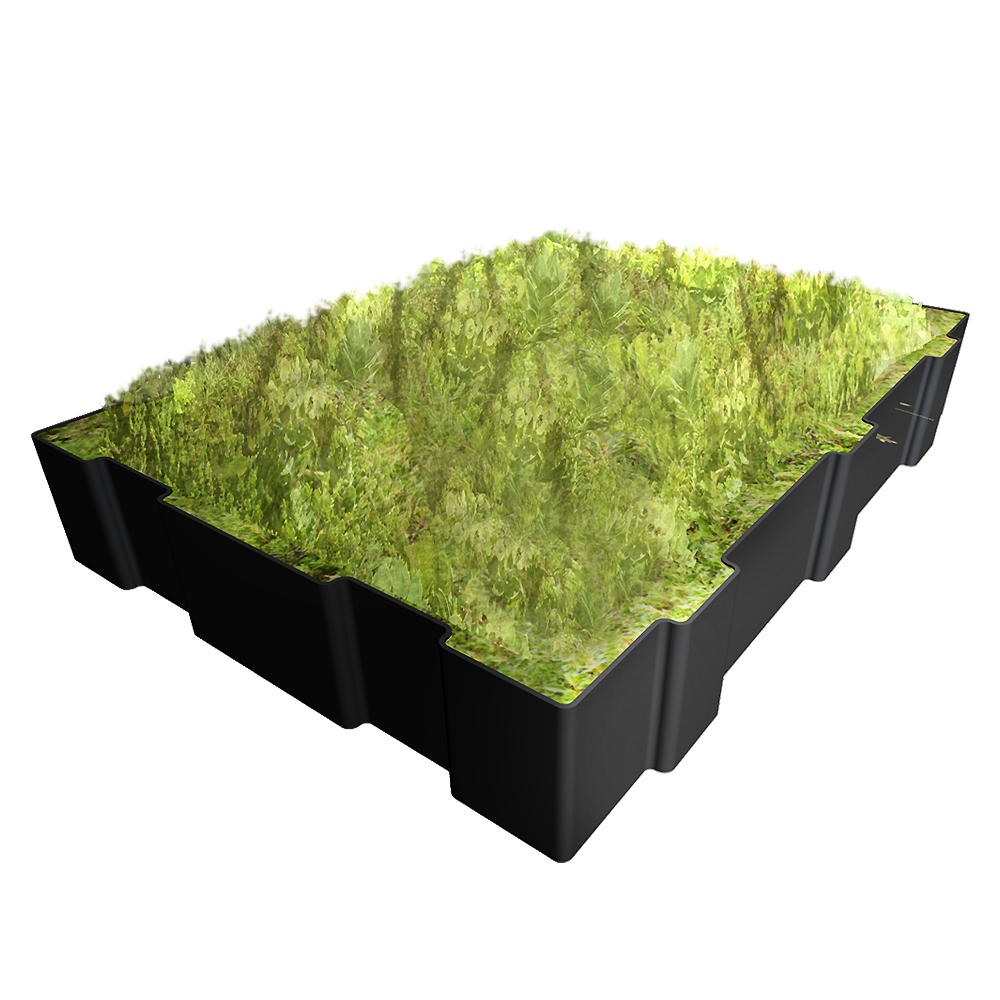 cad and bim object hydropack the modular green roof. Black Bedroom Furniture Sets. Home Design Ideas
