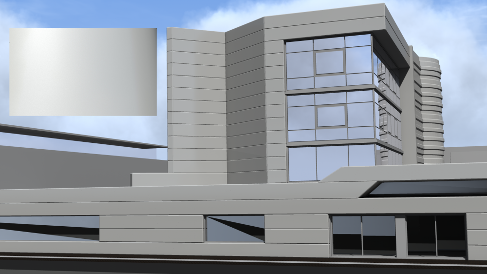Mirawall SPE Blanc Technal Mat  3D View