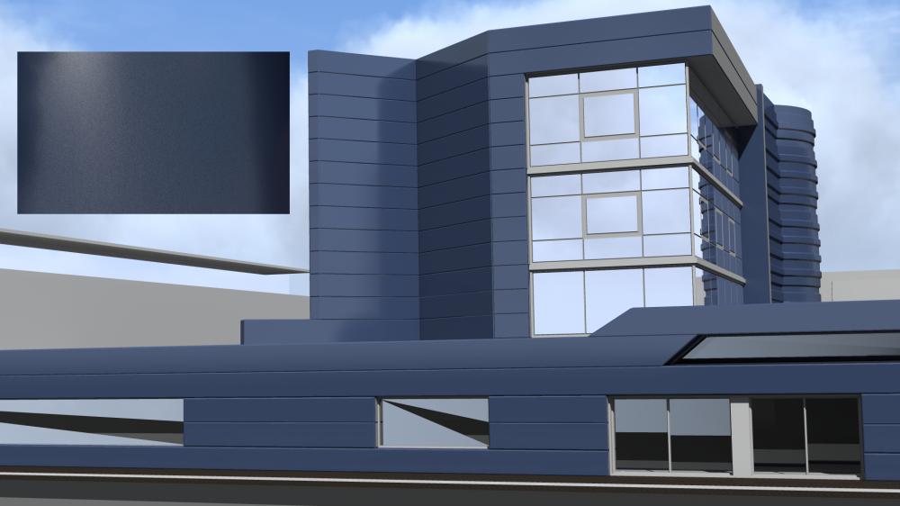 Mirabuild SPE Bleu Canon Mat Nacre  3D View