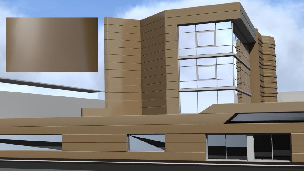 Mirabuild SPE Or Nacre 1036 Mat  3D View