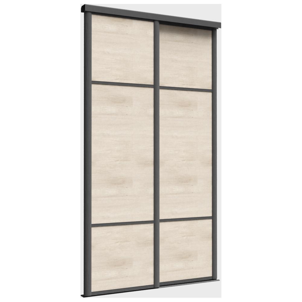 Objets bim et cao porte de placard coulissante emotion 2 portes sogal - Dimension porte placard coulissante ...