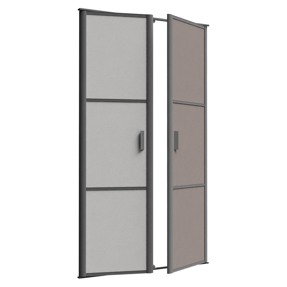 Porte De Placard Pivotante REFLET 2 Portes 3D View