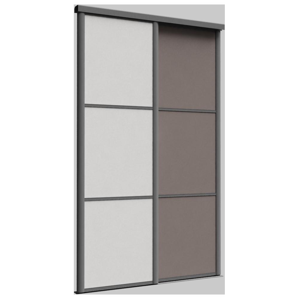 Porte de placard coulissante REFLET 2 portes  3D View