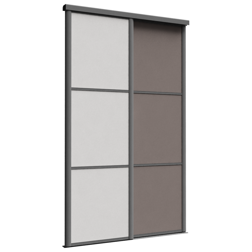 Cad and bim object fa ade reflet 2 portes coulissantes for 4 portes coulissantes