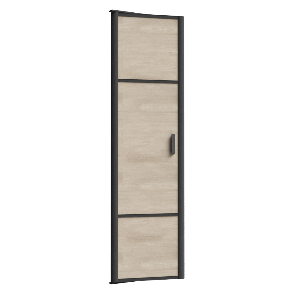 objets bim et cao porte de placard pivotante emotion 1 porte sogal. Black Bedroom Furniture Sets. Home Design Ideas