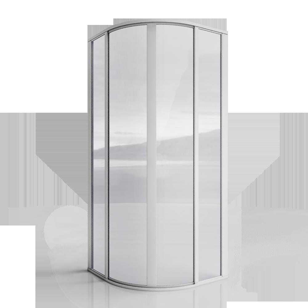 CADA CA R53 Paroi arrondie Portillons coulissants  3D View