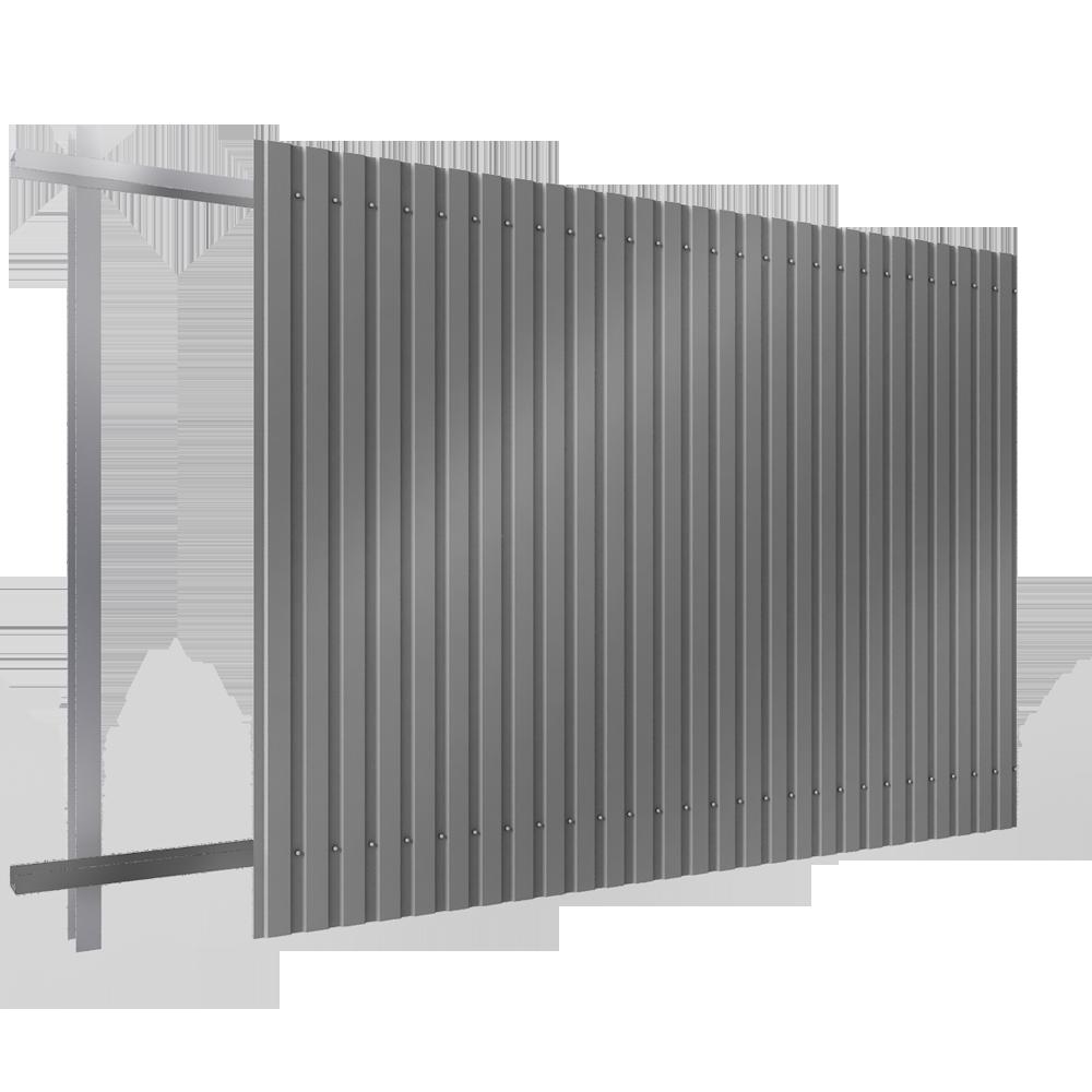 objets bim et cao bardage en acier simple peau en pose verticale enveloppe metallique. Black Bedroom Furniture Sets. Home Design Ideas