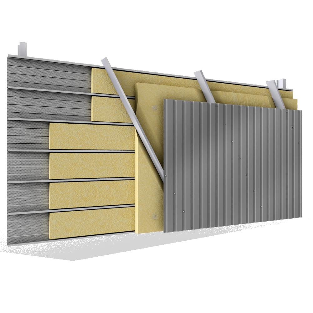 objets bim et cao bardage acier double peau pose v plateaux perfor s carteurs biais avec. Black Bedroom Furniture Sets. Home Design Ideas