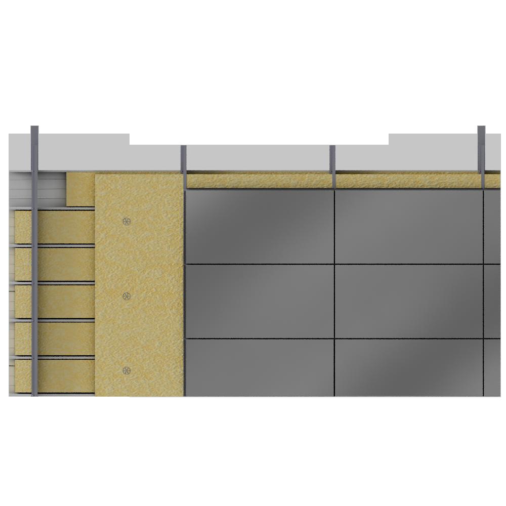 objets bim et cao bardage double peau cassettes acier. Black Bedroom Furniture Sets. Home Design Ideas