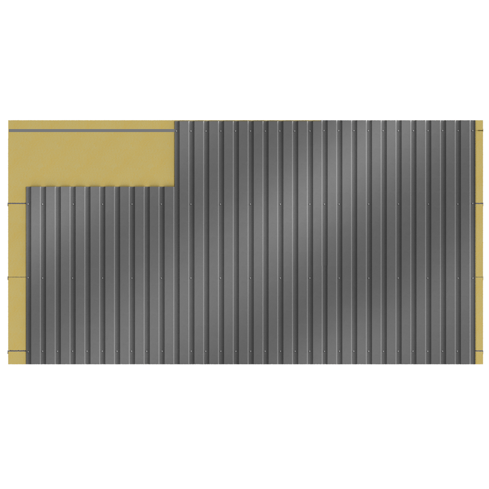 Cladding with 2 skins  Back