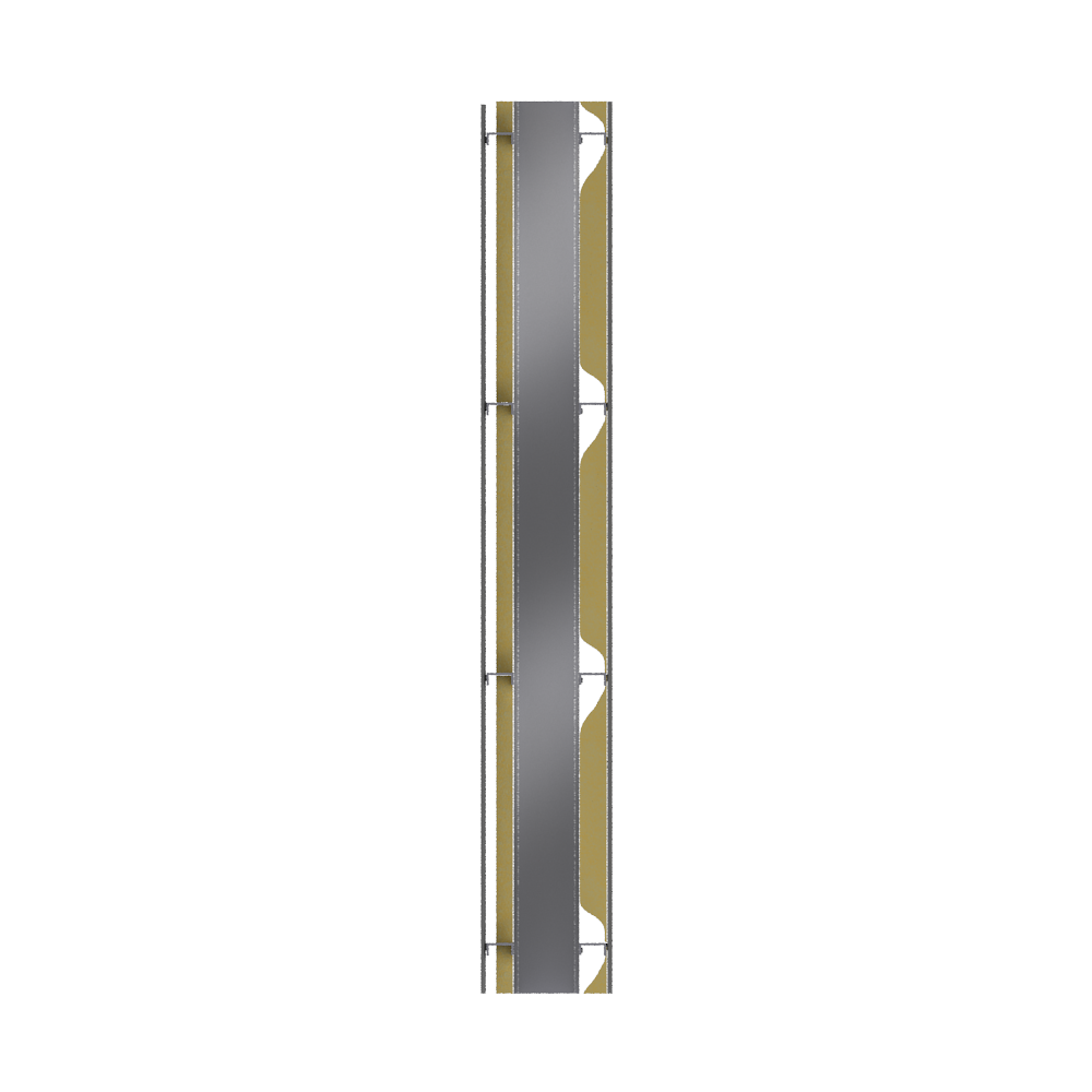 Cladding with 2 skins  Right