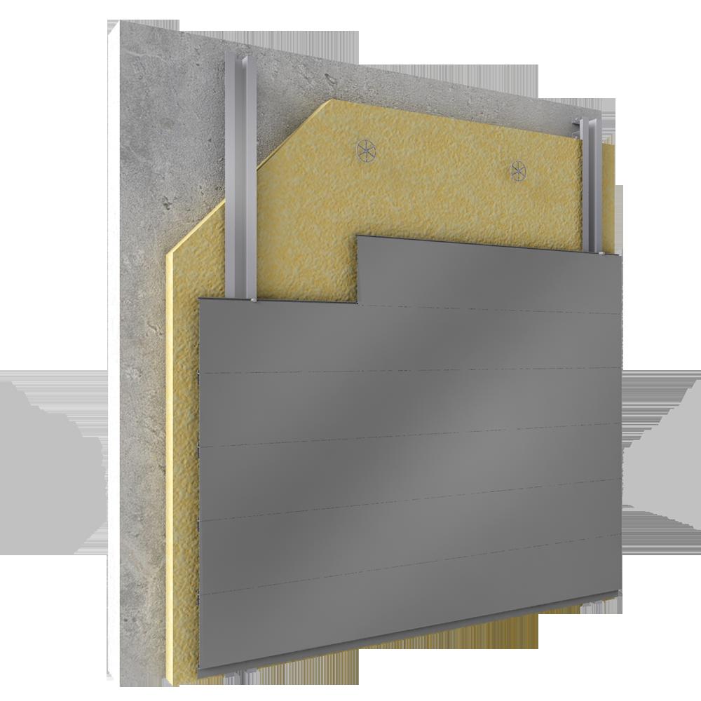 cad und bim objekte fassadenverkleidung aus stahl oder aluminiumlamellen mit horizontaler. Black Bedroom Furniture Sets. Home Design Ideas