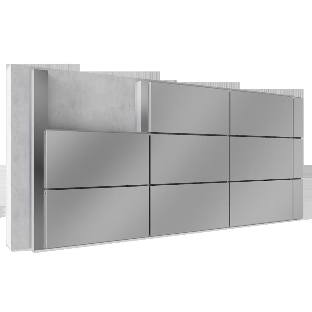 objets bim et cao bardage rapport base de cassettes en acier ou aluminium enveloppe. Black Bedroom Furniture Sets. Home Design Ideas