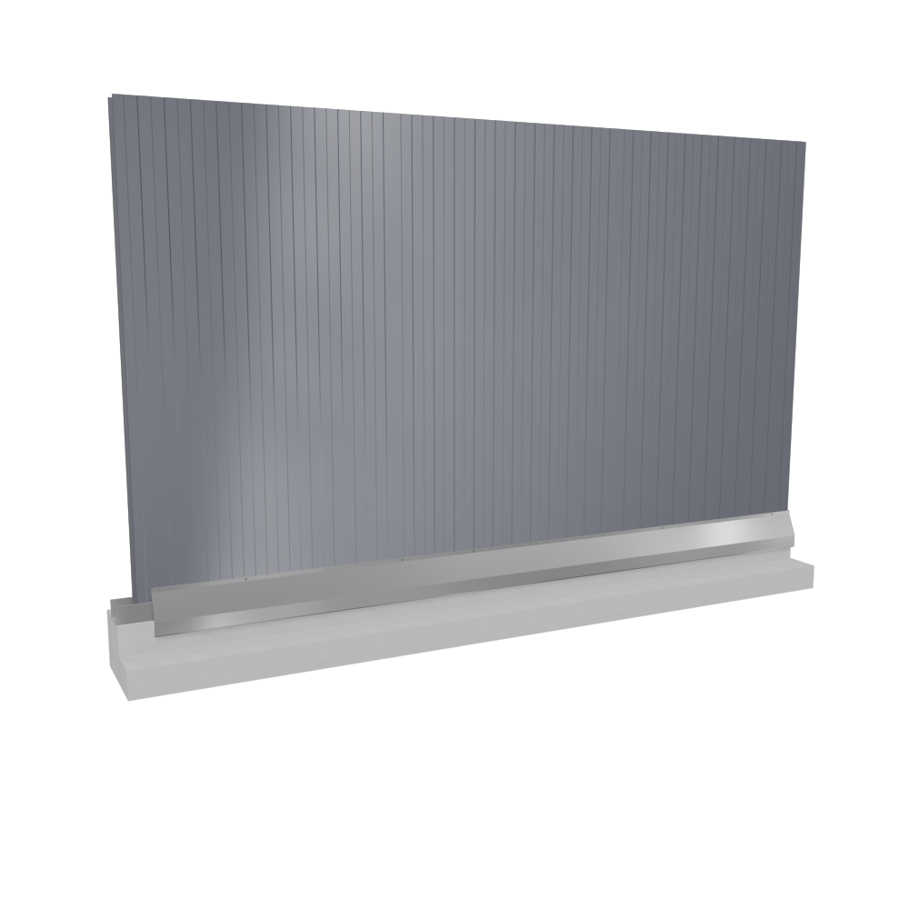 Wall sandwich panels 2 steel facings PUR PIR core v installation  3D View