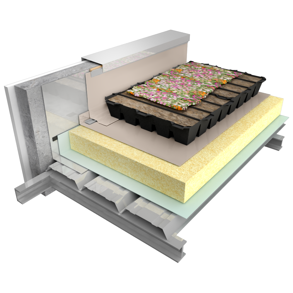 Sarnafil T avec Sarnapack support TAN  3D View