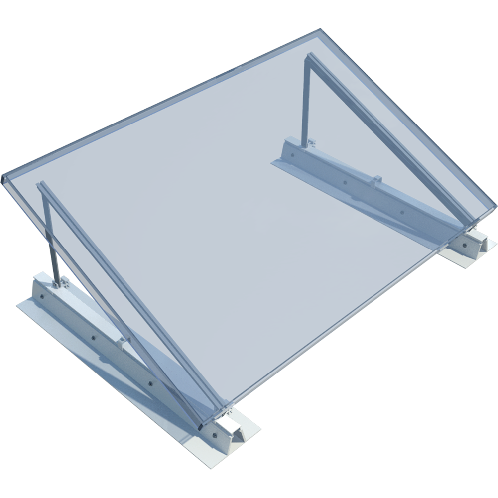 ROOF-SOLAR TILTED PVC - PV mounting system for flat roofs  3D View