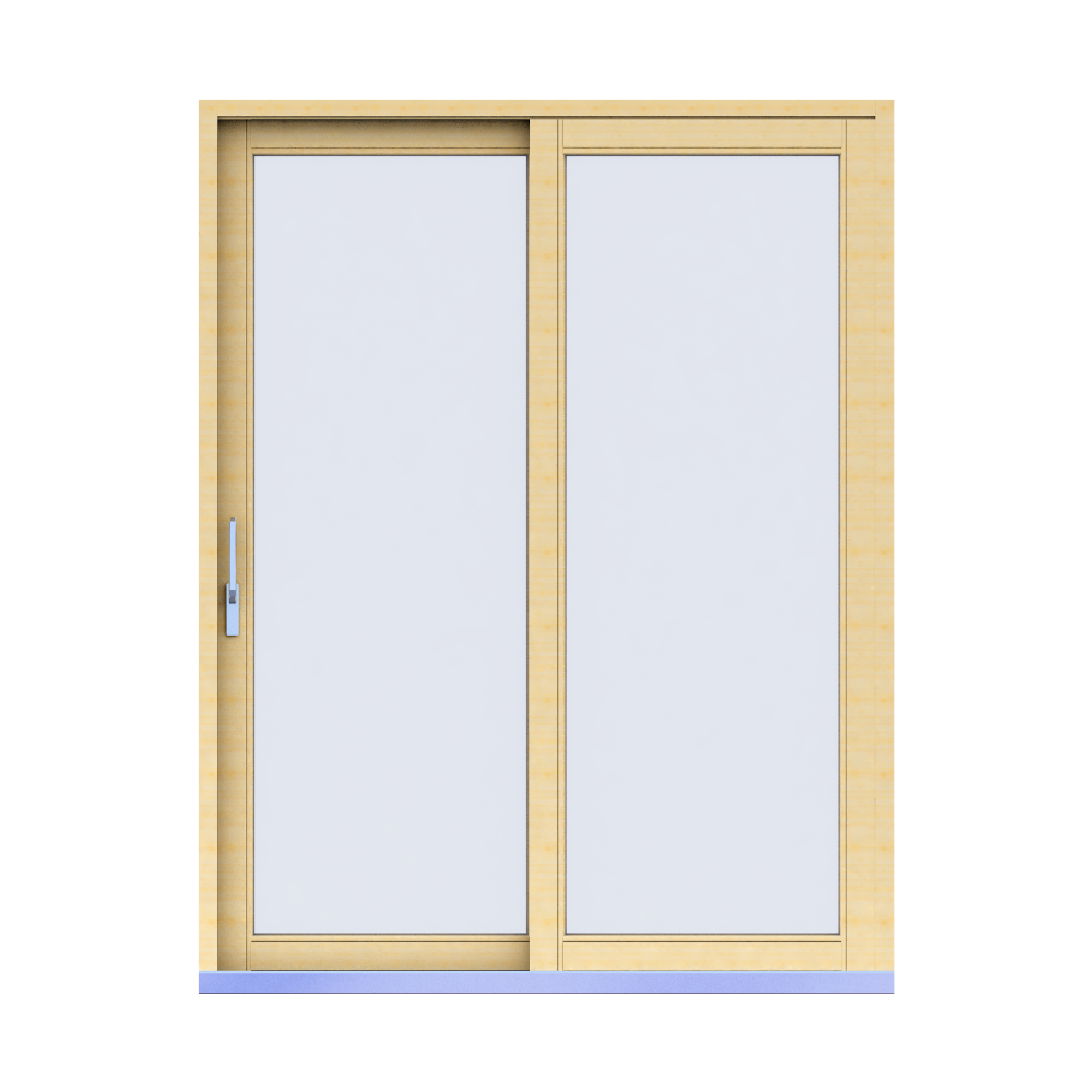 Objets bim et cao porte fenetre 68 double vitrage bois for Fabricant de fenetre bois