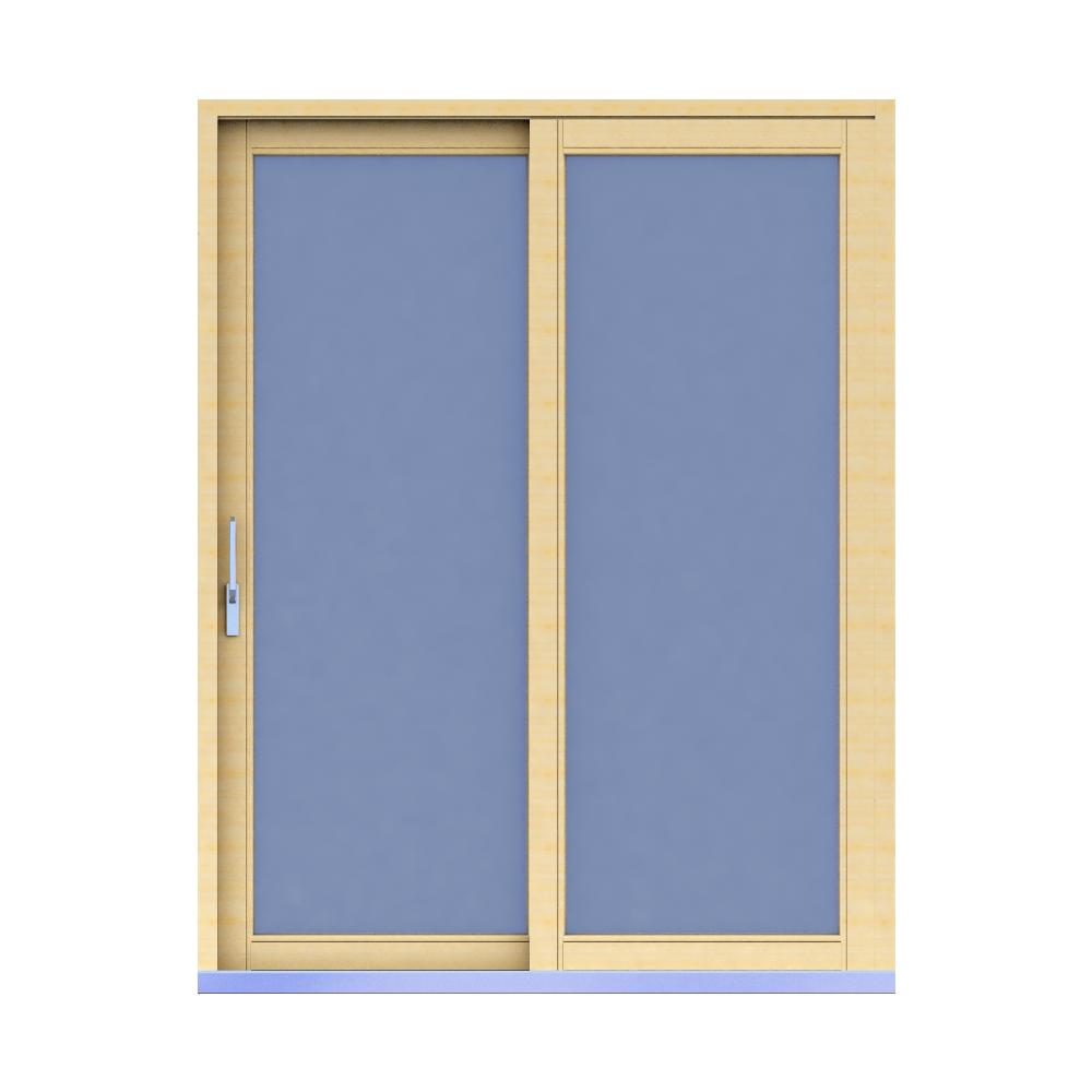 Objets bim et cao porte fenetre 68 double vitrage bois for Porte lift and slide