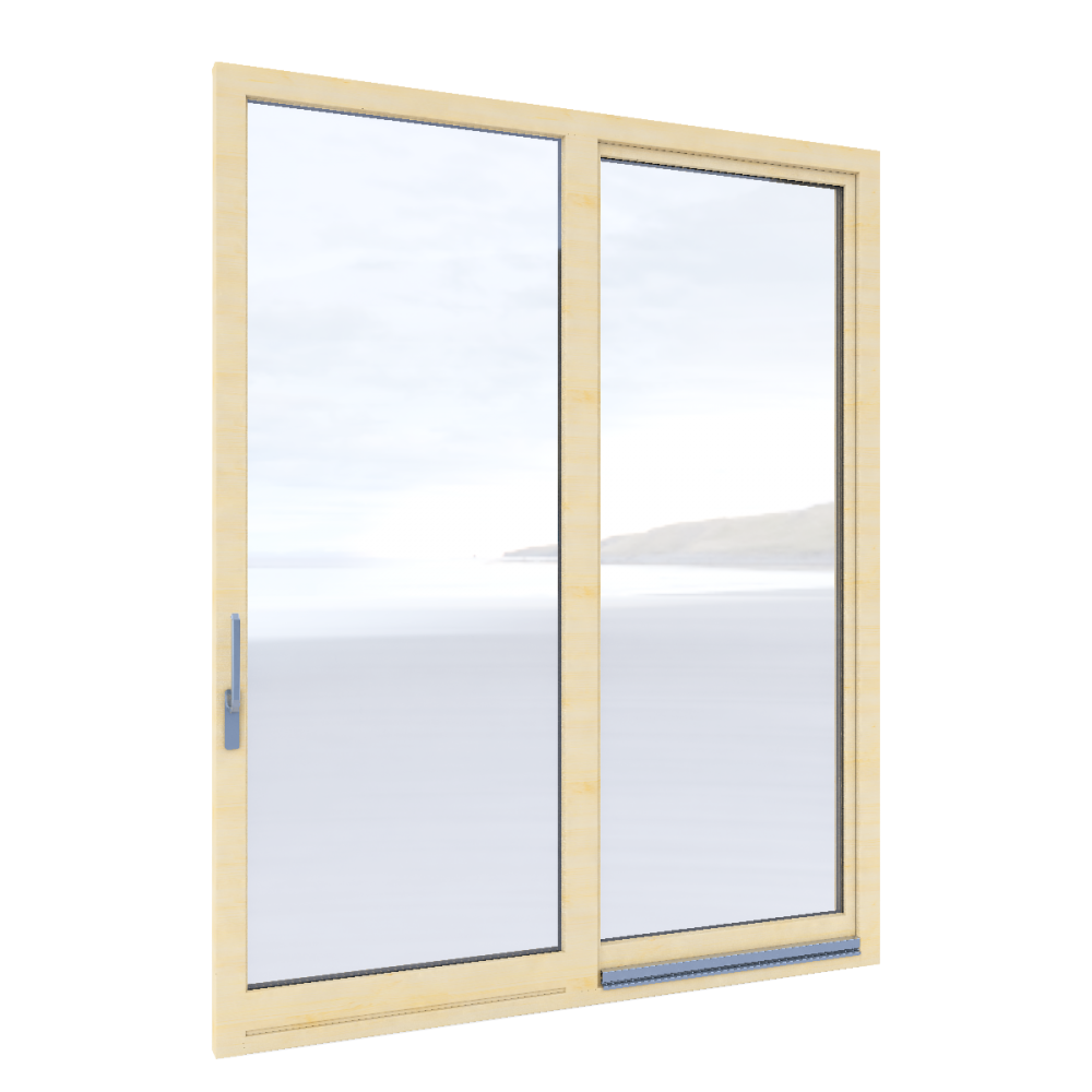 Tilt and slide door Inova  3D View