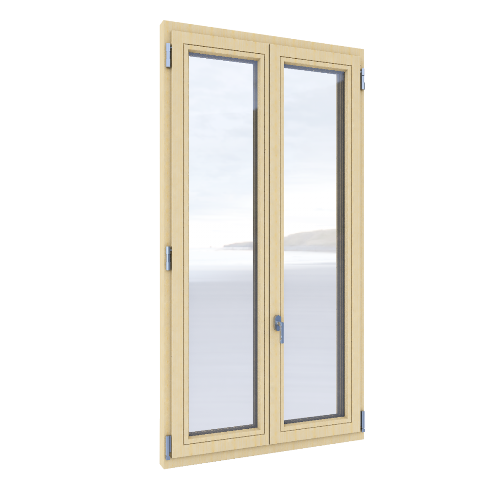 Windows 2 sach with double glassing  3D View