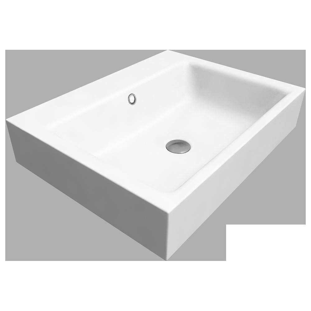 PURO Wall hung washbasin 460x600