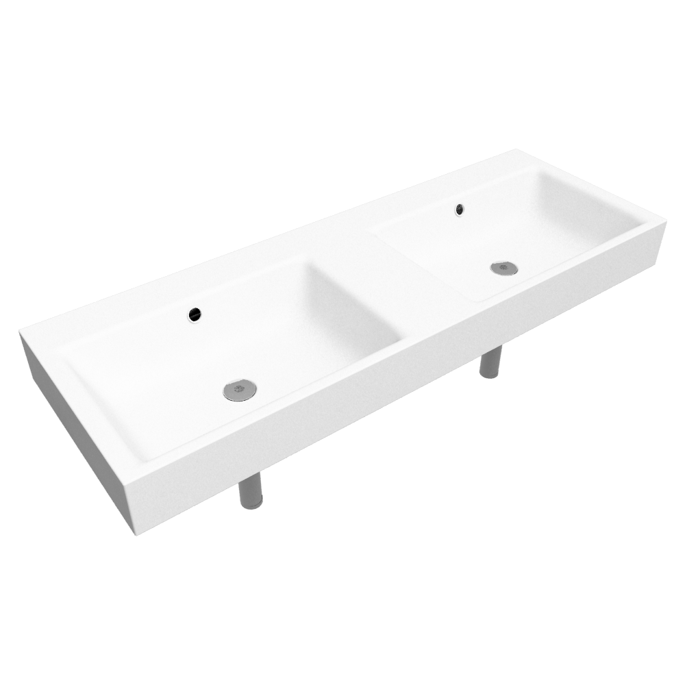 PURO Wall-Hung double washbasin 460x1300